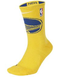 Nike Golden State Warriors Elite Nba Crew Socks - Yellow