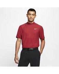 Nike Maglia da golf con collo a lupetto Dri-FIT Tiger Woods - Rosso