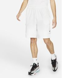 Nike Sportswear Pantalón corto con bolsillos Blanco