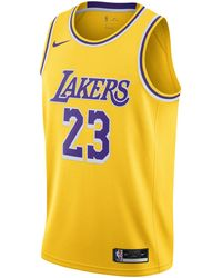 Nike LeBron James Lakers Icon Edition 2020 NBA Swingman Trikot - Gelb