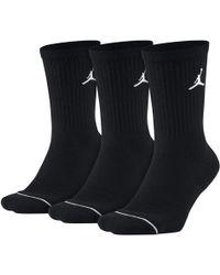 Nike Jordan Everyday Max Unisex Crew Socks (3 Pack) - Black