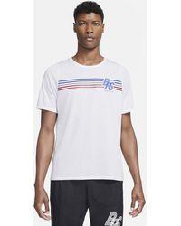 Nike Rise 365 Brs Short-sleeve Running Top - White