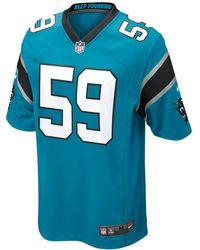 Nike - Nfl Carolina Panthers (luke Kuechly) Men's Football Game Jersey - Lyst