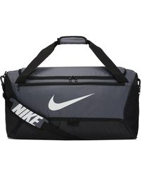 Nike Sac de sport de training Brasilia (taille moyenne) - Gris