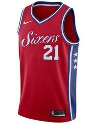 a1a8f9ab0 ... philadelphia 76ers jersey city edition Lyst - Nike Joel Embiid ...