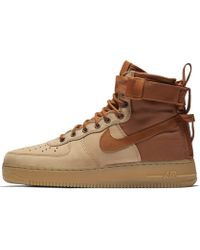 Nike Scarpa SF Air Force 1 Mid Premium - Marrone