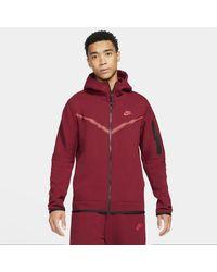 Nike Sportswear Tech Fleece Full-zip Hoodie - Red
