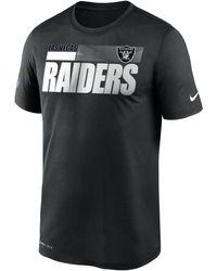 Nike Legend Sideline (nfl Raiders) T-shirt Black