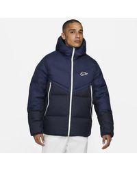 Nike Giacca Sportswear Down-Fill Windrunner - Blu