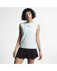 Nike Court Dri-fit Maria Tennis Tank - Blue