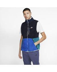 Nike Sportswear Sherpa-Fleece-Weste für - Blau