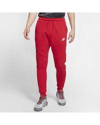 Nike Pantaloni jogger Sportswear Tech Fleece - Rosso