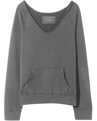 Nili Lotan Tiara V Neck Sweatshirt - Grey