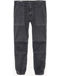 Nili Lotan Cropped Military Pant - Gray