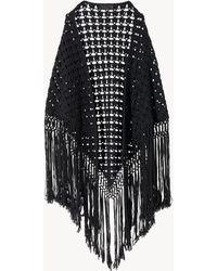 Nili Lotan Robin Crochet Shawl - Black