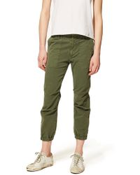 Nili Lotan - Cropped Military Cotton Twill Pant - Lyst