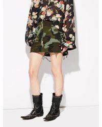 Nili Lotan - Ilona Cotton Twill Mini Skirt With Tape - Lyst