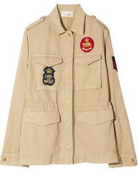 Nili Lotan Patch Army Jacket - Natural