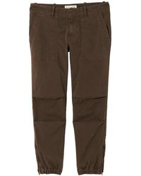 Nili Lotan Cropped Military Pant - Brown