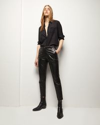Nili Lotan Leather East Hampton Pant - Black