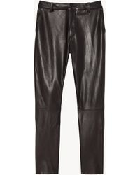 Nili Lotan Montauk Leather Pant - Black