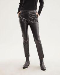 Nili Lotan Montauk Embossed Leather Pant - Black