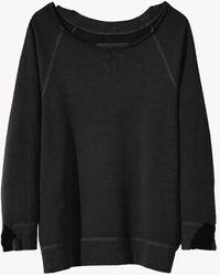 Nili Lotan Luka Scoop Neck Sweatshirt - Black