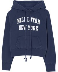 Nili Lotan New York Gracie Hoodie - Blue