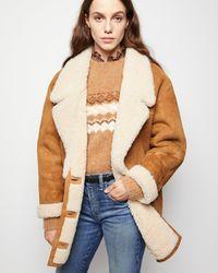 Nili Lotan Noelle Shearling Coat - Multicolor