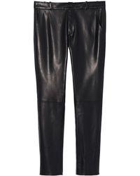 Nili Lotan - East Hampton Lambskin Leather Pant - Lyst