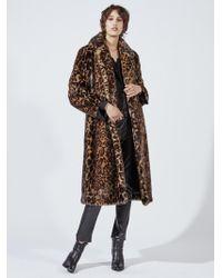 Nili Lotan - Leopard Print Faux Fur Coat - Lyst