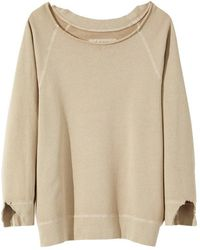 Nili Lotan Luka Scoop Neck Sweatshirt - Natural