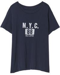 Nili Lotan New York 88 Printed Brady Tee - Blue