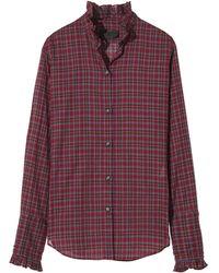 Nili Lotan Vivian Shirt - Red