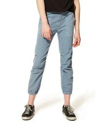 Nili Lotan - Cropped Military Cotton Twill Pant - Lyst