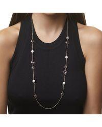 Nina Jennifer Necklace-gold/white/pink - Metallic