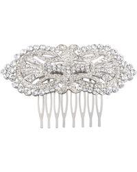 Nina Lucerne Hair Comb-white