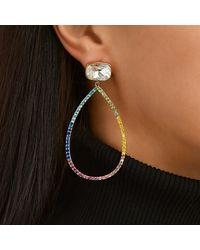 Nina Sofie Drop Earring-gold/rainbow - Metallic