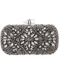 Nina Gelsey Crystal Embellished Minaudière - Black