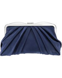 Nina Haidyn Pleated Frame Convertible Clutch - Blue