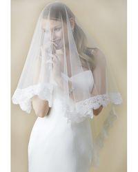 Nina Hadley Veil - White