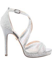 95721567aa7 Fenna Platform Evening Sandals.  89. Macy s · Nina - Fenna-silver Glitter -  Lyst