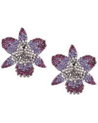 Nina Chana Earring-black Rhodium/purple