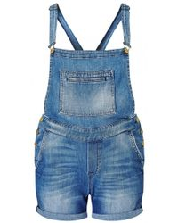 7 For All Mankind | Roll-up Short Overall | Lyst