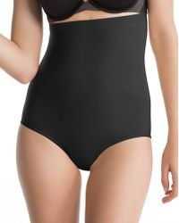 Spanx - Higher Power High-waisted Black Knickers - Lyst