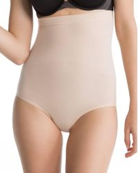 Spanx - Higher Power High-waisted Nude Knickers - Lyst