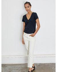 Ninetypercent Organic Cotton Classic Fit V-neck T-shirt - Black