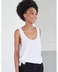 Ninetypercent Organic Cotton Slub Jersey Oversize Vest - White