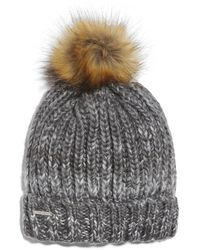 Nine West Womens Crazy Cable Marled Slouchy Beanie