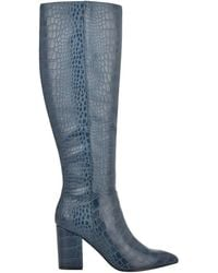 Nine West Adaly Heeled Boots - Blue